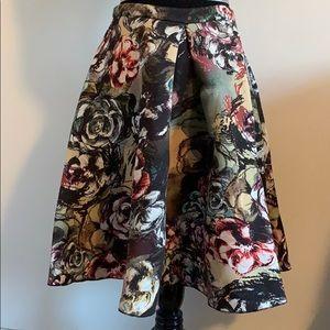 H&M Midi Flower Skirt - size M